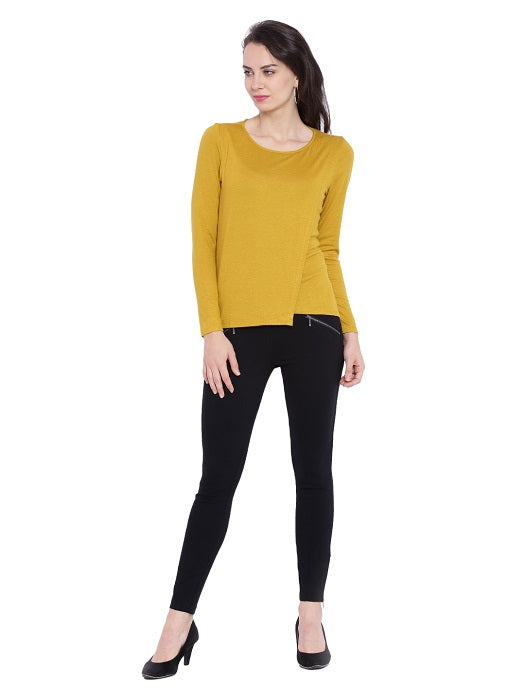 Round Neck Layered Sweater