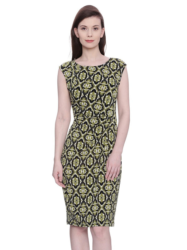 Round Neck Printed Dress
