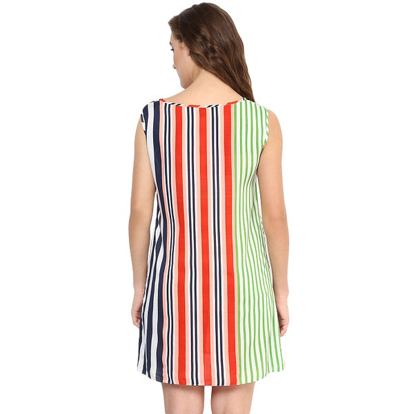 Round Neck Striped Tunic