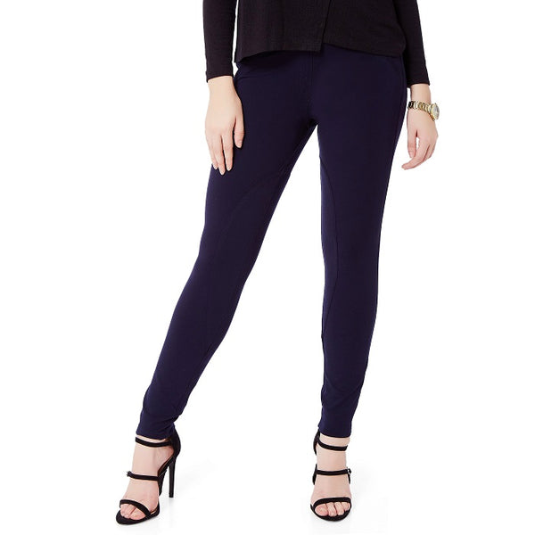 Solid Blue Ponte Pant