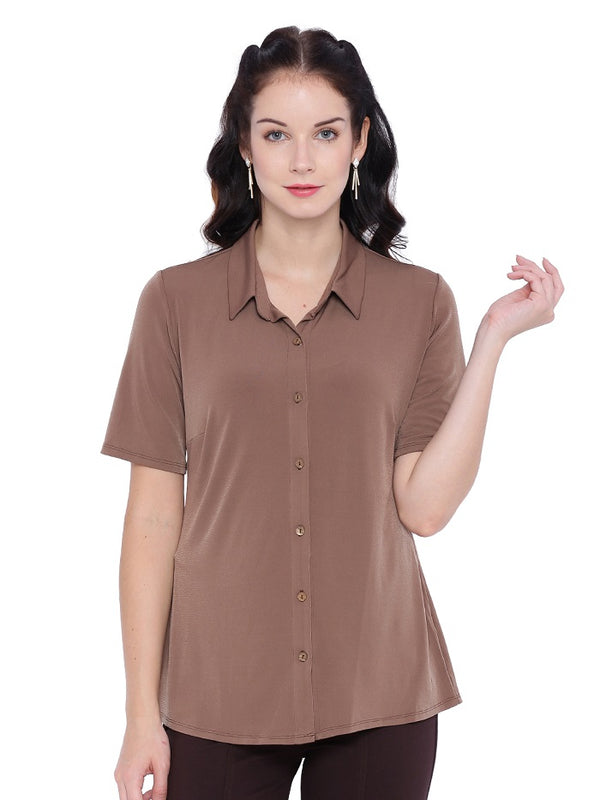 Solid Brown Shirt