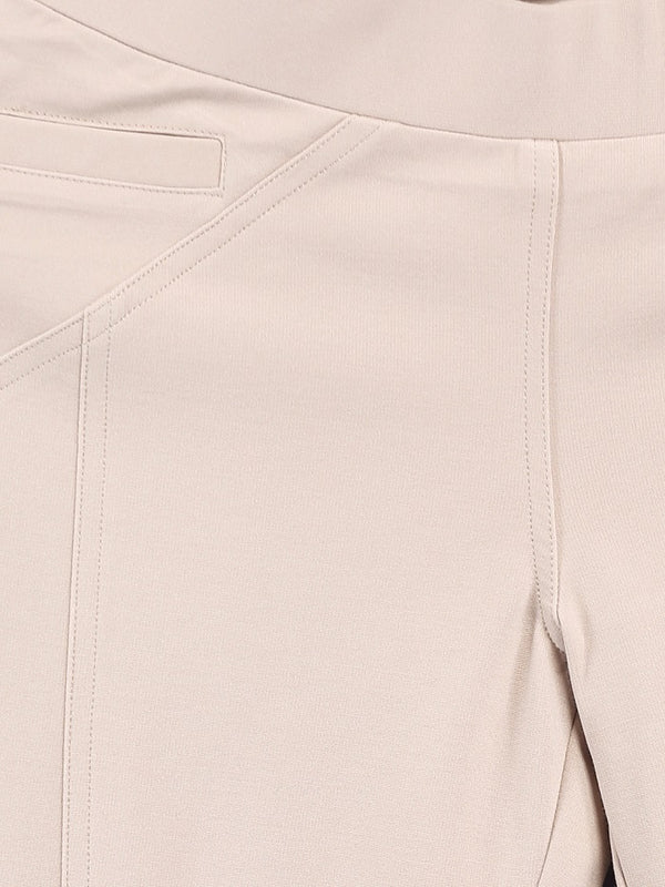 Solid Cream Ponte Pant