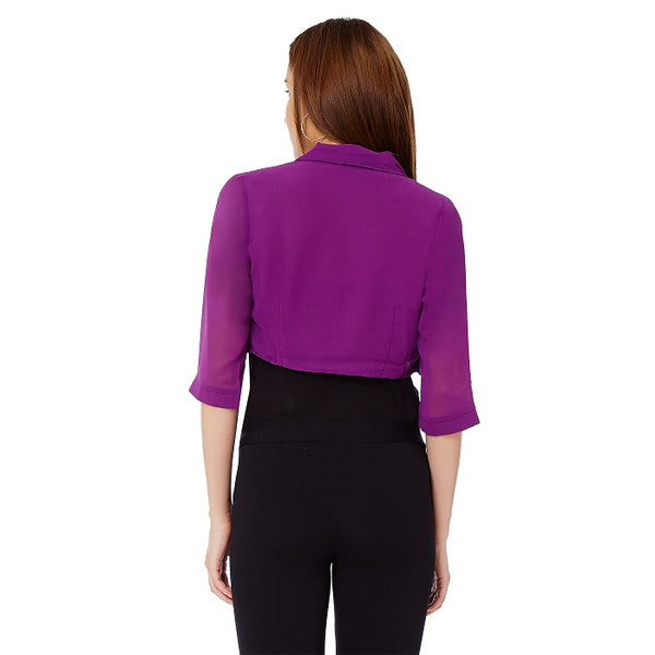 Solid Purple Bolero