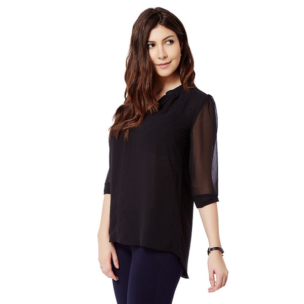 V Neck Georgette Top
