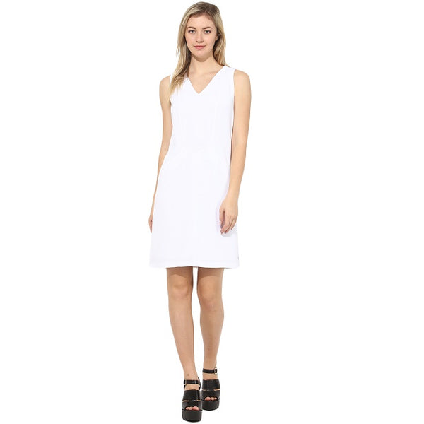 White Casual Shift Dress