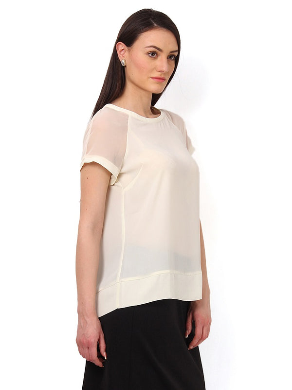 Off White Georgette Top