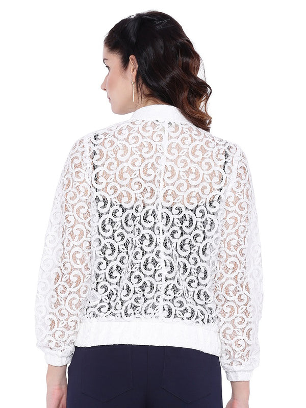 White Lace Shrug