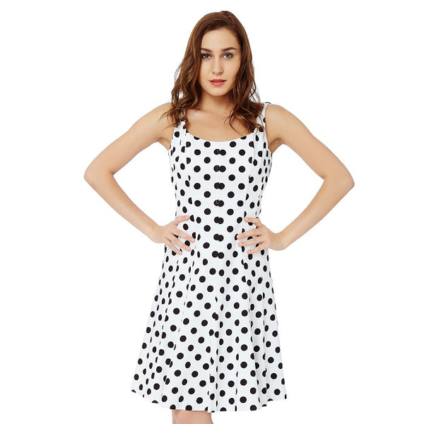 White Polka Dotted Dress