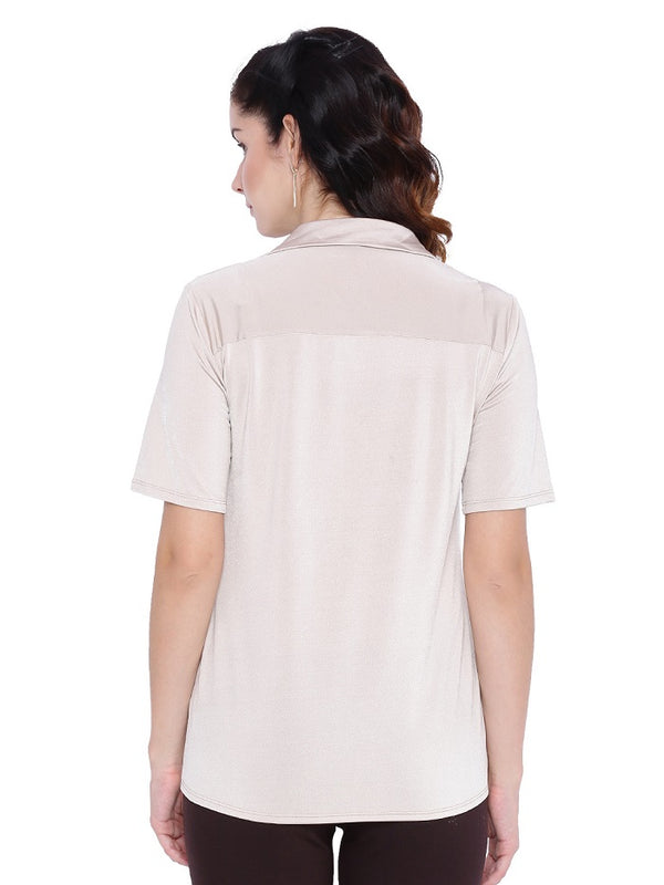 White Stretchable Shirt