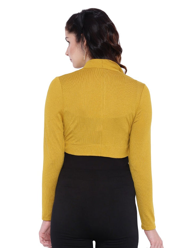 Yellow Knitted Shrug