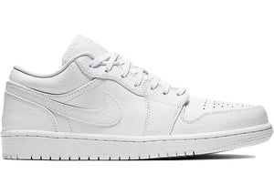 Air Jordan 1 Low Triple White Tumbled Leather