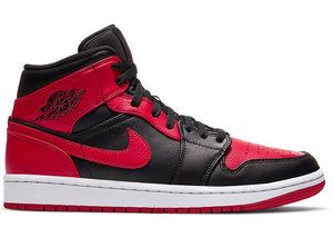 Air Jordan 1 Mid Banned (2020) Bred