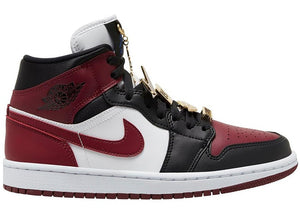 Air Jordan 1 Mid SE Black Dark Beetroot (W) Gold Pendant