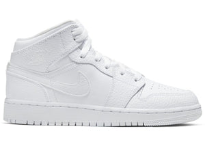 Air Jordan 1 Mid Triple White