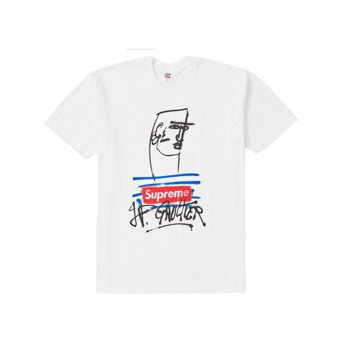 Supreme x Jean Paul Gaultier Tee White - Authentic limited sneakers at HDG.sales