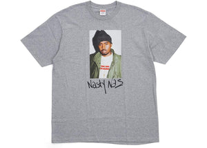Supreme Nas T-Shirt Grey - Authentic limited sneakers at HDG.sales