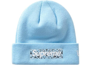 Supreme Bandana Box Logo Beanie Light Blue - HDG.sales