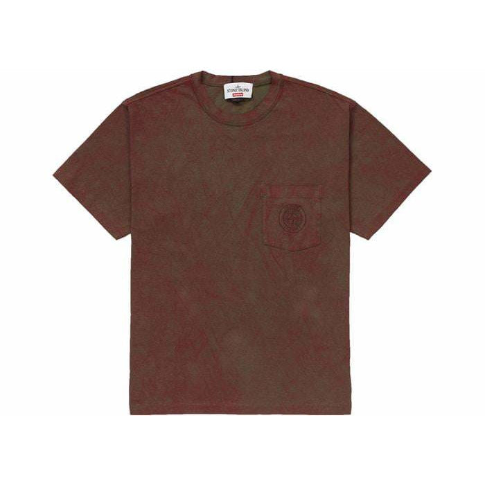 Supreme x Stone Island Tee Red - Authentic limited sneakers at HDG.sales