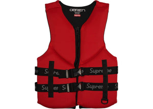 Supreme x O'Brien Life Vest Red HDG.sales