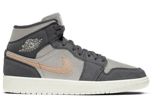 Air Jordan 1 Mid SE Grey Mesh