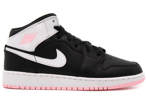 Air Jordan 1 Mid Arctic Pink Black (GS)