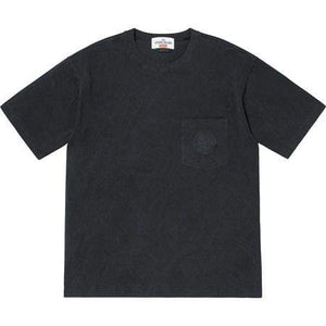 Supreme x Stone Island Tee Black - Authentic limited sneakers at HDG.sales