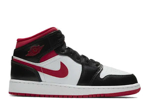 Air Jordan 1 Mid Gym Red Black White