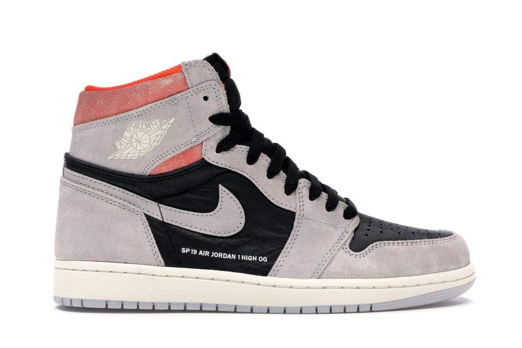 Air Jordan 1 High OG Neutral Grey Hyper Crimson - Authentic limited sneakers at HDG.sales