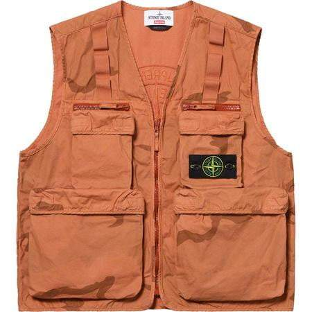 Supreme x Stone Island Vest Coral Camo - Authentic limited sneakers at HDG.sales