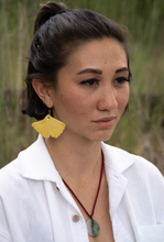 Load image into Gallery viewer, Porcelain Ginkgo Leaf Earring