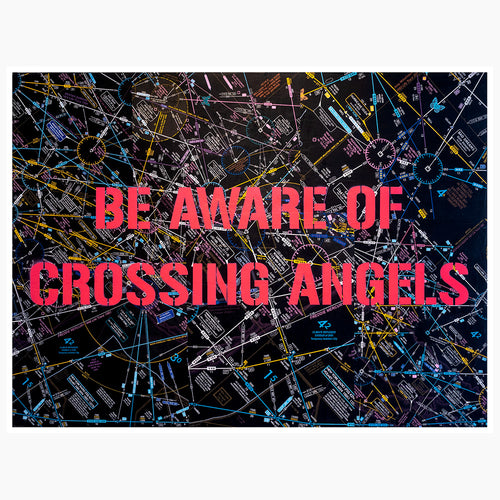Be Aware of Crossing Angels 48x36