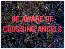 Load image into Gallery viewer, Be Aware of Crossing Angels - Yoga Leggings