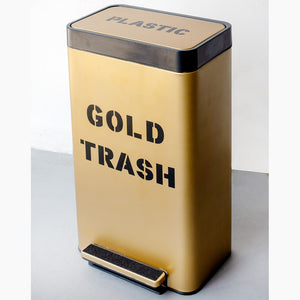 Gold Trash Acool55 001 Custom Trash Can