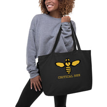 Load image into Gallery viewer, BEE HUMAN Large organic tote bag