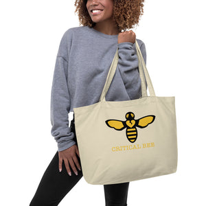 BEE HUMAN Large organic tote bag
