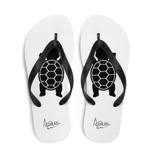Load image into Gallery viewer, BABY TURTLE - by Acool55 -WHITE - Flip-Flops