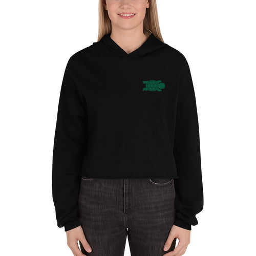 Baby Turtle - Cropped Hoodie -Women - Embroidered