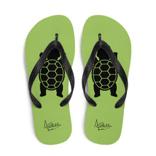 Load image into Gallery viewer, BABY TURTLE - by Acool55 -Emerald Green - Flip-Flops