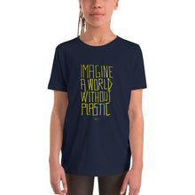 Load image into Gallery viewer, Imagine a World Without Plastic - HOLD ME CLOSE - Youth Short Sleeve T-Shirt