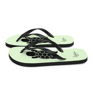 BABY TURTLE - by Acool55 -Aqua Green - Flip-Flops
