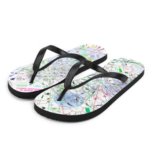 Load image into Gallery viewer, Be Aware of Crossing Angels - Flip-Flops