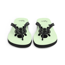 Load image into Gallery viewer, BABY TURTLE - by Acool55 -Aqua Green - Flip-Flops