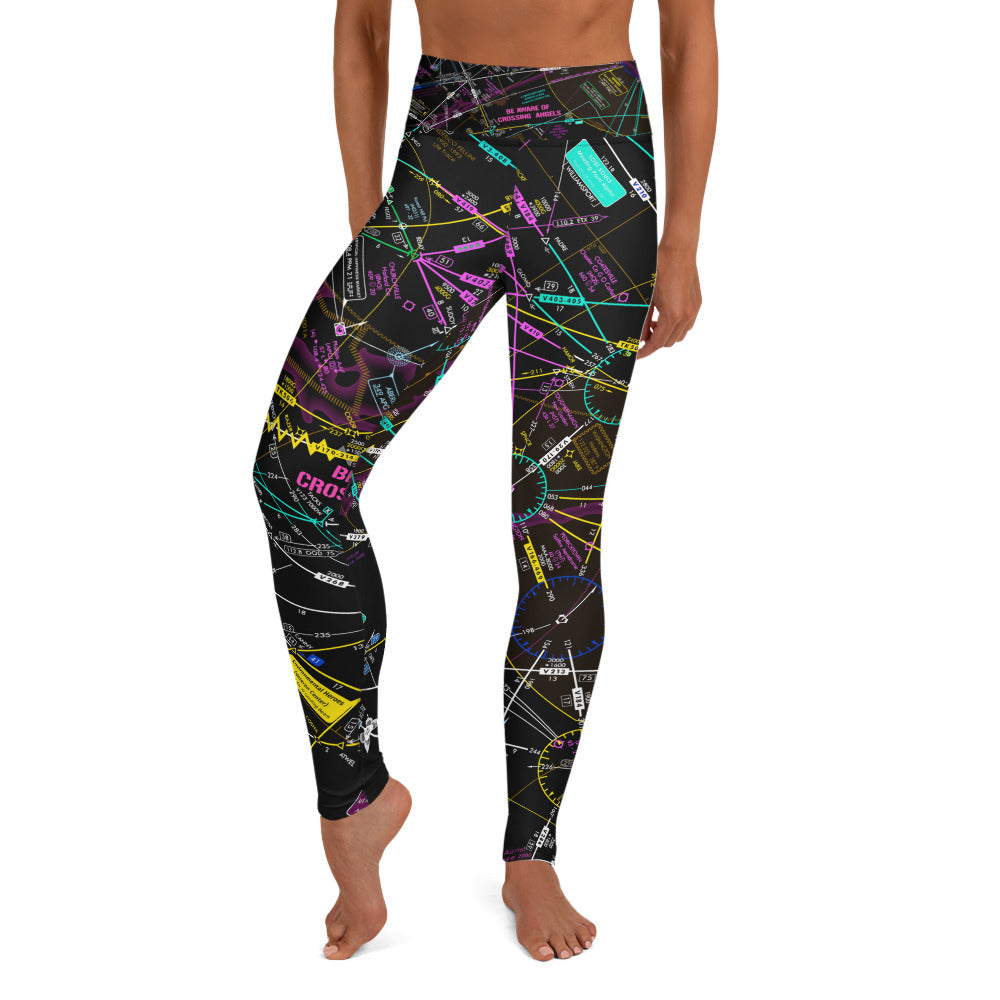 Be Aware of Crossing Angels - Yoga Leggings