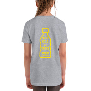 Imagine a World Without Plastic - HOLD ME CLOSE - Youth Short Sleeve T-Shirt