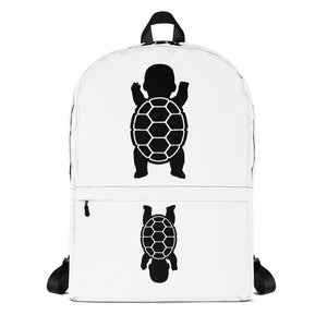 BABY TURTLE - by Acool55 - WHITE Backpack