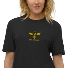Load image into Gallery viewer, BEE HUMAN by Acool 55 LTD Edition Unisex recycled t-shirt EMBROIDERY