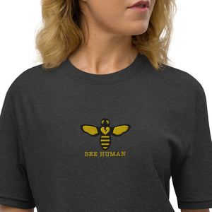 BEE HUMAN by Acool 55 LTD Edition Unisex recycled t-shirt EMBROIDERY