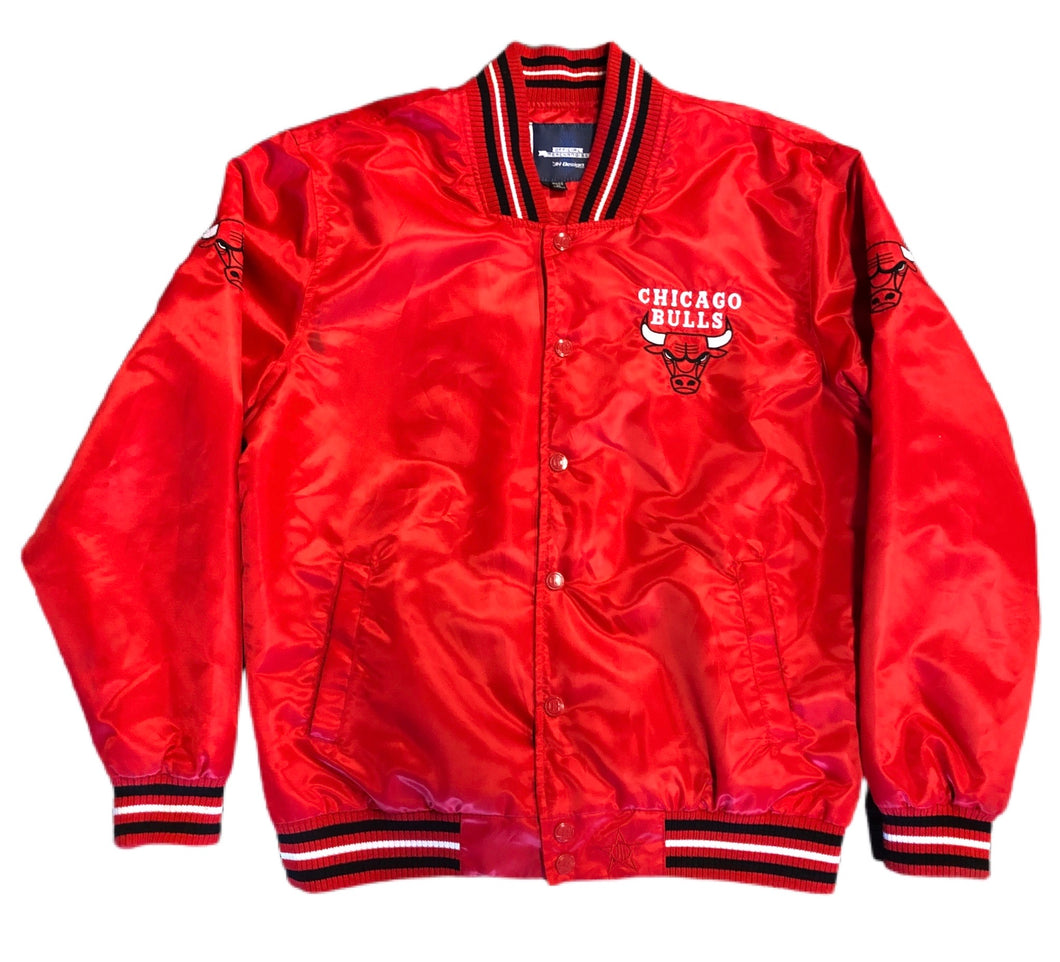 RARE VINTAGE JEFF HAMILTON CHICAGO BULLS EASTERN CONFERENCE NBA Satin JACKET