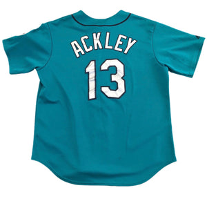 Vintage Majestic Seattle Mariners Green Genuine Jersey Dustin Ackley 13 XL