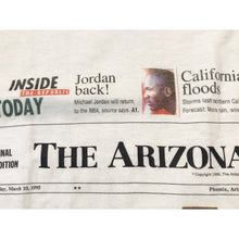Load image into Gallery viewer, NWT Vintage 1995 Arizona Diamondbacks Take The Field Newspaper Single stitch T-shirt Size Adult L